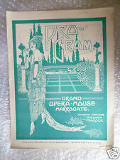 1929 Grand Opera House Programme THE CRADLE SONG - G M Sierra,J G Underhill