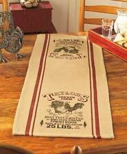 "TABLE RUNNER 36"" Long x 14"" Wide Taylor Chicken Farm Eggs COUNTRY PRIMITIVE"
