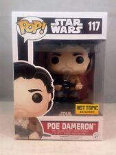 Funko Pop Star Wars 117 Poe Dameron Jacket Rifle Hot Topic Exclusive 2016