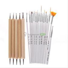 20Pcs Nail Art UV Gel Design Set Painting Dot Pen Brush DIY Manicure Tips Tools