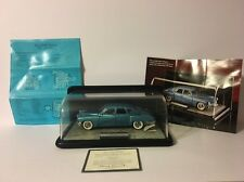 Franklin Mint 1948 Tucker Torpedo 1:24 Scale Precision Models w/ Display - Blue