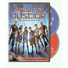 Young Justice . Season 1 . Episodes 13-26 . Dangerous Secrets . 2 DVD . NEU