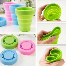 Travel Silicone Folding Cup Outdoor Camping Telescopic Collapsible Tool(No lid)