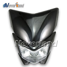 PHARE / OPTIQUE LAMPE FEUX AVANT STREET MOTO Pour KLX 250 KLX 450 Noir