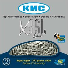 KMC X9SL Silver 9 Speed Road or Mountain Bike Chain KMCX9SLS