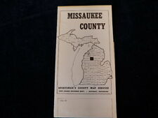 Vintage Missaukee County Sportsman's Michigan Fishing Road Map Eppinger Dardevle