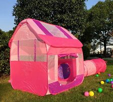 Playhouse For Boys Kids Outdoor Toys Outside Children Indoor Tunnel Tent Pink