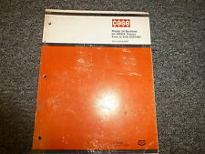 Case 34 Backhoe for 680CK Tractor Crawler Parts Catalog Manual S/N -9101501