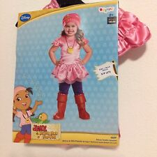 Disney Jake Neverland Pirates Izzy Costume Dress Up Size Small 2T New!
