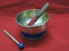 """8"""" Hand Made 7 metal TIBETAN SINGING BOWL for Healing 1 cushion & 2 mallet FREE"""