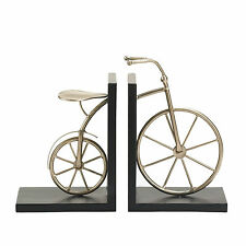 Charming Bicycle Bookends Metallic Vintage Retro Office Den Decor 16158