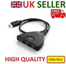 High Quality Splitter 3 Port HDMI Auto 1080P Switcher Hub Box Cable LCD HDTV