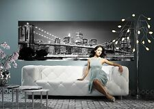 NON-WOVEN Photo Wallpaper Wall Mural BROOKLYN BRIDGE NEW YORK Panoramic  368x127