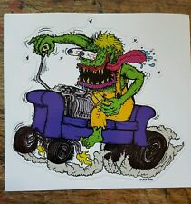 Rat Fink Style Couch Potato Monster Vinyl Decal Bumper Sticker