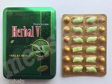 Herbal V Men Natural Sex Male Libido Enhancer Hard Long Erection 24 Sex Pills