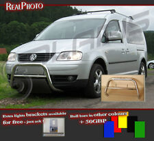 VOLKSWAGEN CADDY 2003+ BULL BAR WITHOUT AXLE BARS +GRATIS!!! STAINLESS STEEL!!