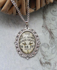 Supernatural Vintage Style Ouija/Spirit Board Glass Cabochon Necklace Gothic UK