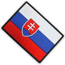 3D PVC Slovakia Velcro Backed Military Army Tactical  National Flag Patch Colour