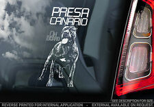 Presa Canario - Dog Car Window Sticker - OPTION: Dogo Canario / Canary Mastiff