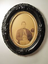 ANTIQUE CIVIL WAR UNION SOLDIER BUTTONS KEPI #3 LARGE RARE PHOTO LAST FOUND MA
