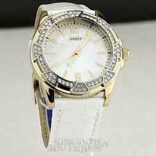 Nouveau élégant 100% original watch GUESS mesdames classique en cuir blanc