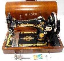 ►ESPECTACULAR y Antigua maquina de coser SINGER de FLORES año 1931 FUNCIONA►