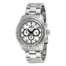 Invicta Speedway Chronograph Silver Dial Stainless Steel Mens Watch 21794