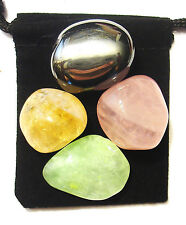 KIDNEY STRENGTH Tumbled Crystal Healing Set =4 Stones +Pouch +Description Card