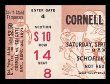 1971 Cornell v Colgate Football Ticket 9/25/71 Ed Marinaro 27557