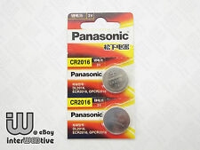 2 Pieces New in Package Panasonic CR2016 2016 ECR2016 Coin Cell Battery 3V