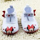Adorable Baby Girls 'Minnie Mouse' White & Red Disney Summer Mary Jane Shoes