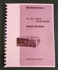 Kenwood TS-700A Instruction Manual: Premium Card Stock Covers & 28lb Paper