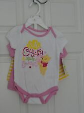 TOO CUTE DISNEY BABY GIRL'S WINNIE THE POOH 3 PC SET SIZE 6-9 M NWT MSRP $24