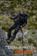 POSTER BEAR GRYLLS MEN VS WILD ULTIMATE SURVIVAL L'ULTIMO SOPRAVVISSUTO NATURA 1