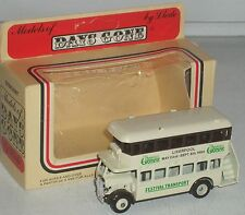 "Festival Gardens Liverpool Days Gone Double Decker Bus/trolley  3""  NEW in Box"