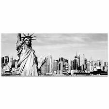 New York Black and White City Skyline on Acrylic - High Gloss, Reverse - Printed
