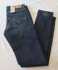 NWT LEVIS 524 SKINNY ULTRA LOW RISE SKINNY LEG JEANS JUNIORS SIZE 7M Indigo