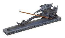 NEW Dragon Fire Incense Stick Burner Medieval Fierce Winged Serpent Celtic Base