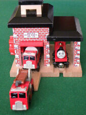 SODOR FIRE STATION for Thomas and Friends Wooden Railway & BRIO TRAIN SETS