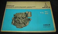 Ersatzteilliste Deutz Diesel Motor F4L 911 / 912 Parts Catalogue Stand Juli 1970