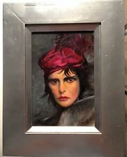 """OIL PAINTING ORIGINAL """"MONKEY GIRL""""FRAMED AND SIGNED BY STUART KAUFMAN 1926-2008"""