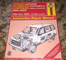 Haynes Repair Manual Dodge Caravan-Plymouth Voyager-Chrysler Minivans 1984-1995
