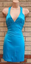 RIVER SIDE TURQUOISE BLUE HALTERNECK CORSET BODYCON TUBE PARTY DRESS 10 S