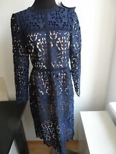 Zara Navy Blue Lace Dress,Size Small