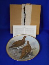"Collector Plate 1978 GAME BIRDS OF THE WORLD Red Grouse Basil Ede 9"" France"