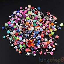 50Pcs Wholesale Ball Belly Navel Button Bar Rings Barbell Body Piercing Jewelery