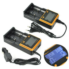 BORUIT C2 LCD Smart Battery Dual Digita Charger for 18650 26650 Rechargeable AAA