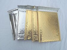 10 Gold and Silver Poly Bubble Mailers,6x9 Padded Mailing Shipping Envelopes