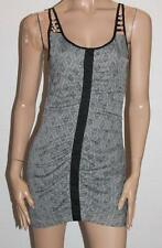 Ladakh Designer Grey Print Ruched Body Dress Size 8 BNWT #sP84