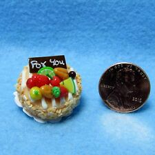 Dollhouse Miniature For You Round Cake Orange with Fruit